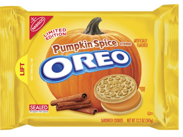 Pumpkin filled Oreos (surprisingly not as disturbing as you would expect).