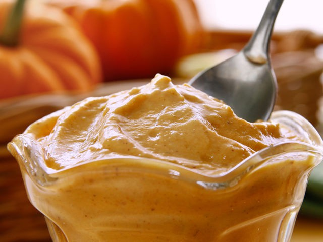 Pumpkin spice yogurt, like pumpkin pie in a cup!