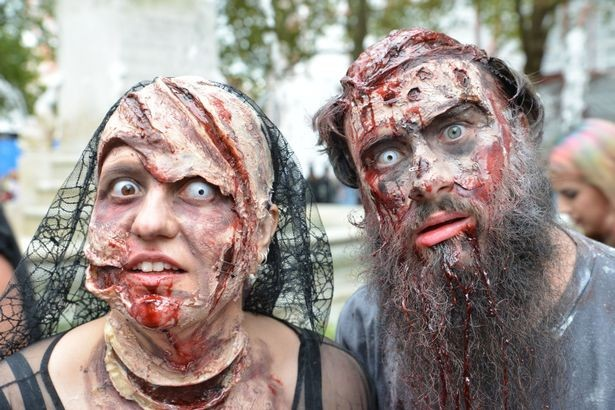 Dead love: An undead couple pose for the camera
