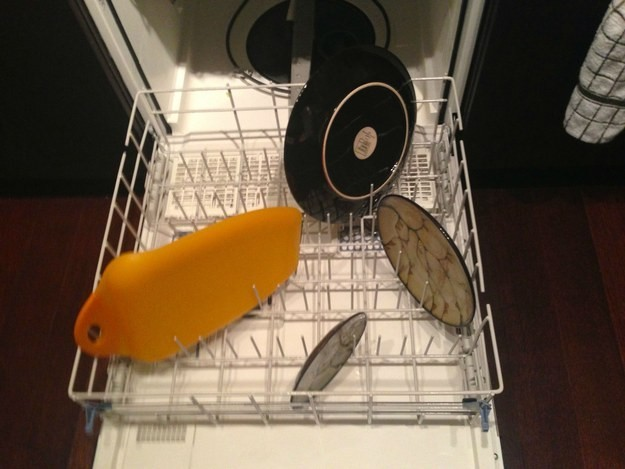 When people stack the dishwasher inefficiently.