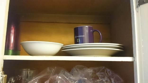 When kitchen cupboards don't have a system.