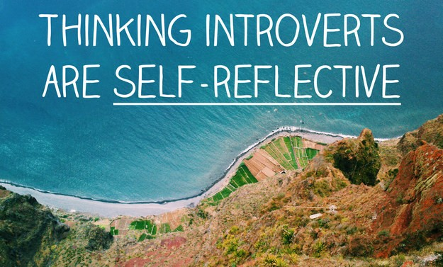 Thinking introversion applies to people who are very self-reflective.