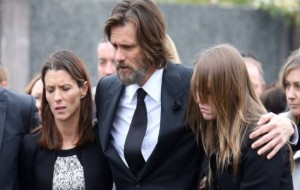 Jim Carrey Carries Late Girlfriend Cathriona White's Casket at Funeral